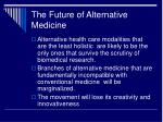 the future of alternative medicine29