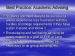 best practice academic advising