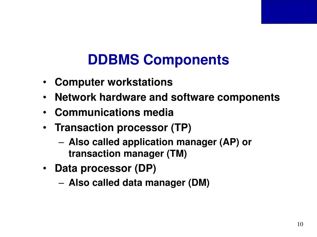 DDBMS Components