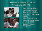computer information systems cins