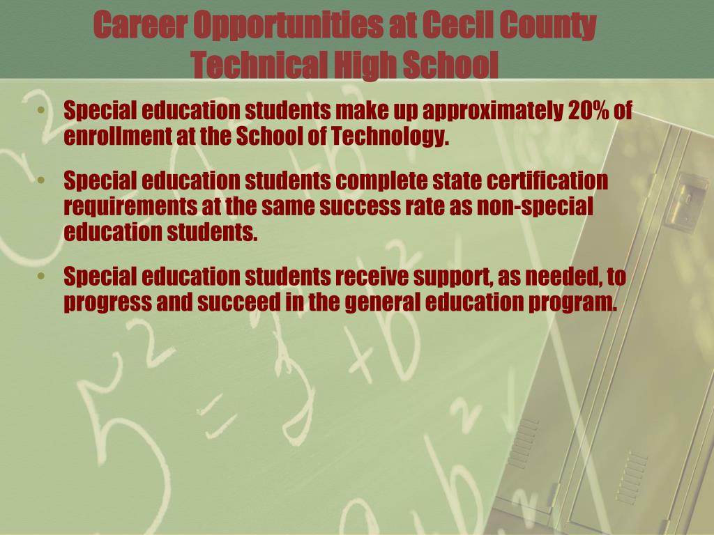 Career Opportunities at Cecil County Technical High School