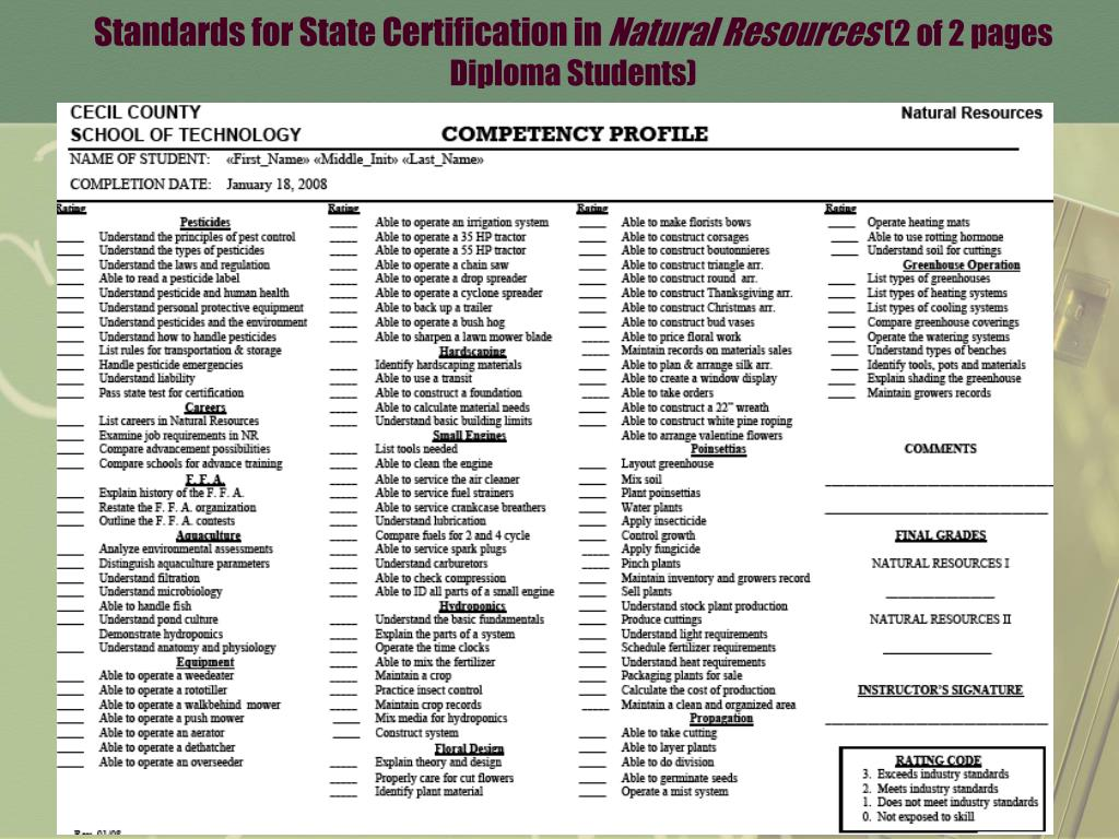 Standards for State Certification in