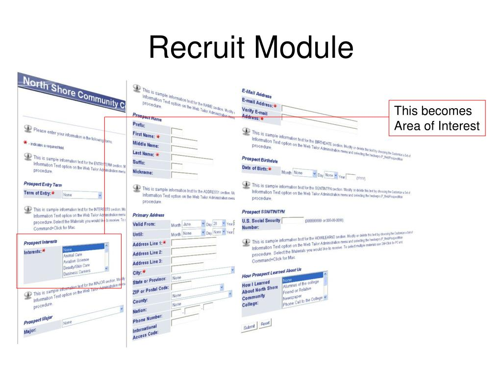 Recruit Module