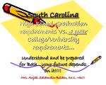 south carolina high school graduation requirements vs 4 year college university requirements