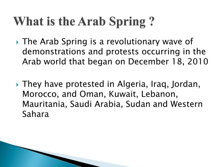 What is the arab spring