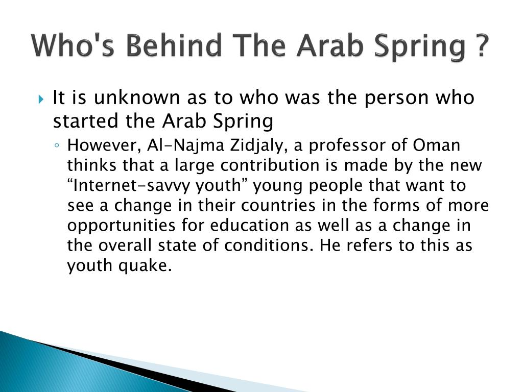 Who's Behind The Arab Spring ?