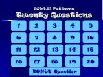 sol4 21 patterns twenty questions