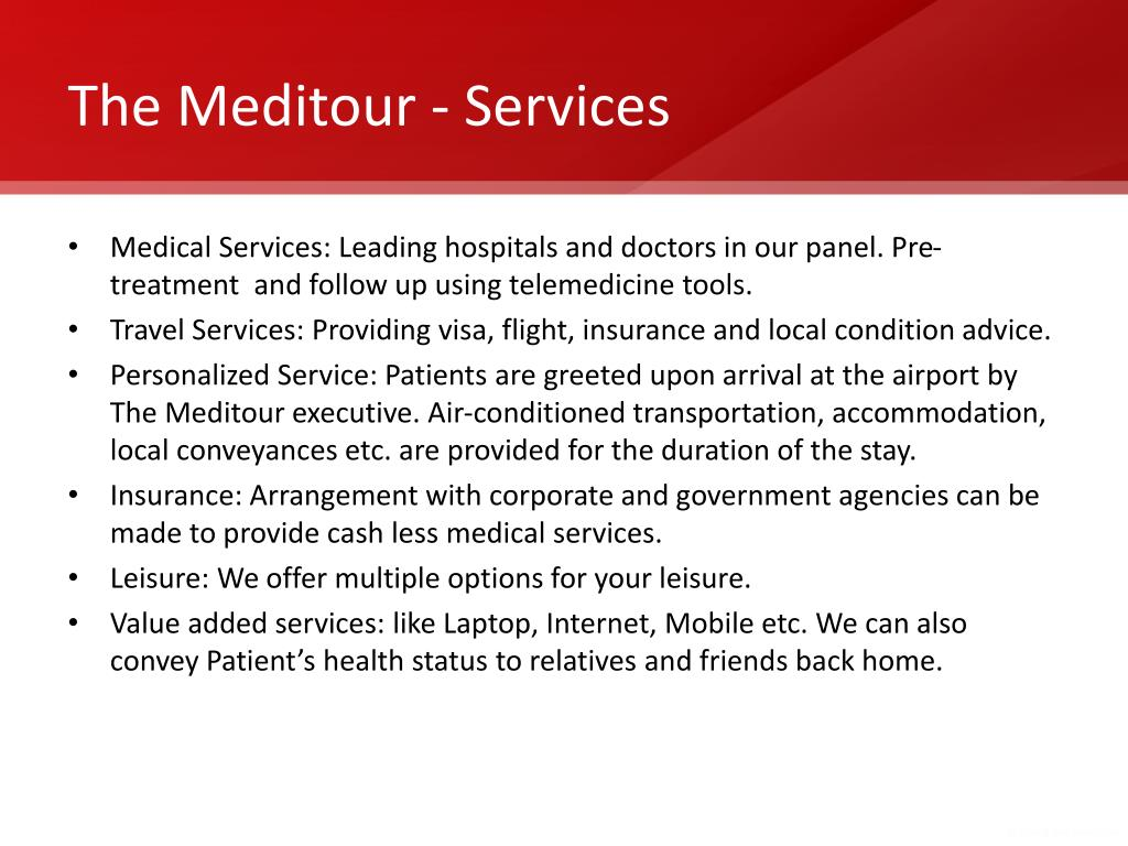 The Meditour - Services