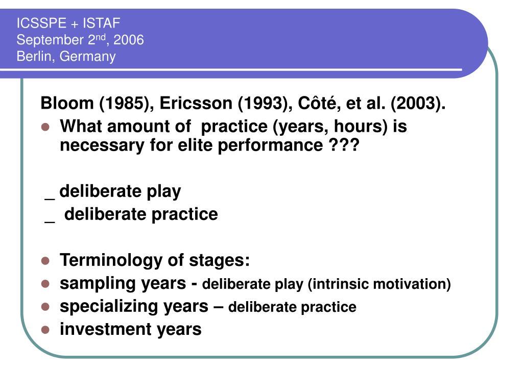 ICSSPE + ISTAF
