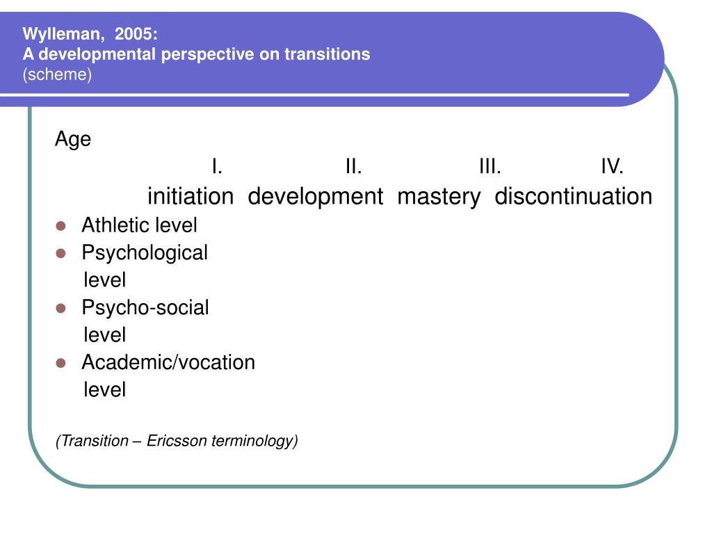 Wylleman,  2005: