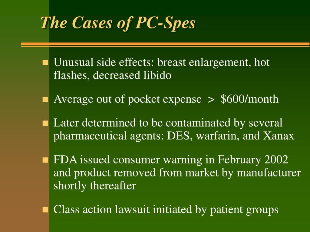 The Cases of PC-Spes