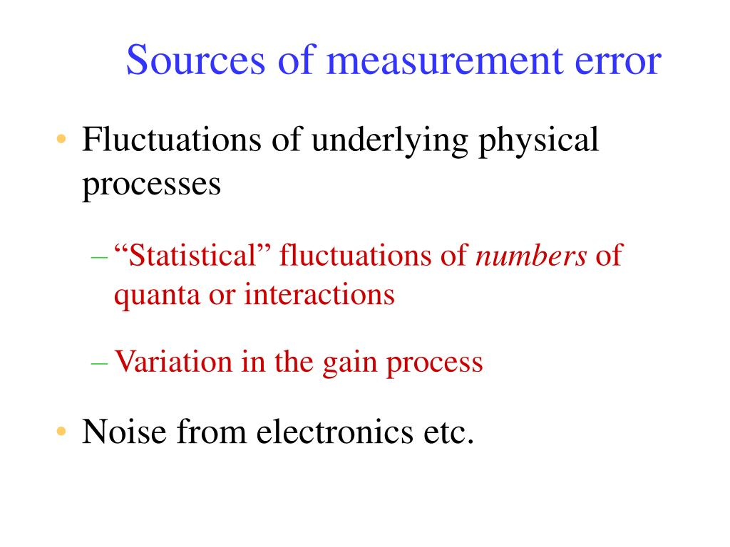 Sources of measurement error