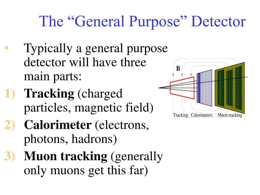 Typically a general purpose detector will have three main parts: