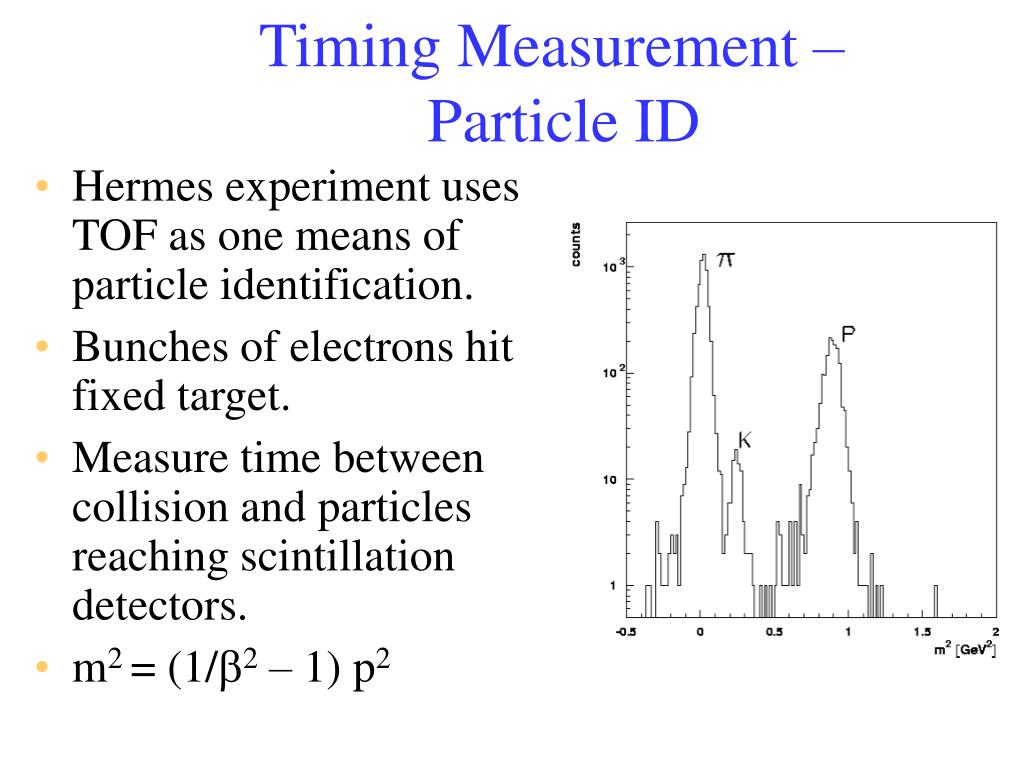 Timing Measurement – Particle ID