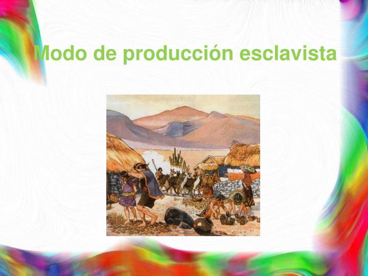 Modo de producción esclavista