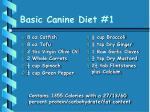 basic canine diet 1