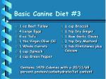 basic canine diet 3