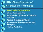 nih classification of alternative therapies35