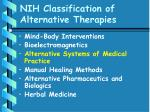 nih classification of alternative therapies43