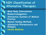 nih classification of alternative therapies60