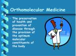 orthomolecular medicine