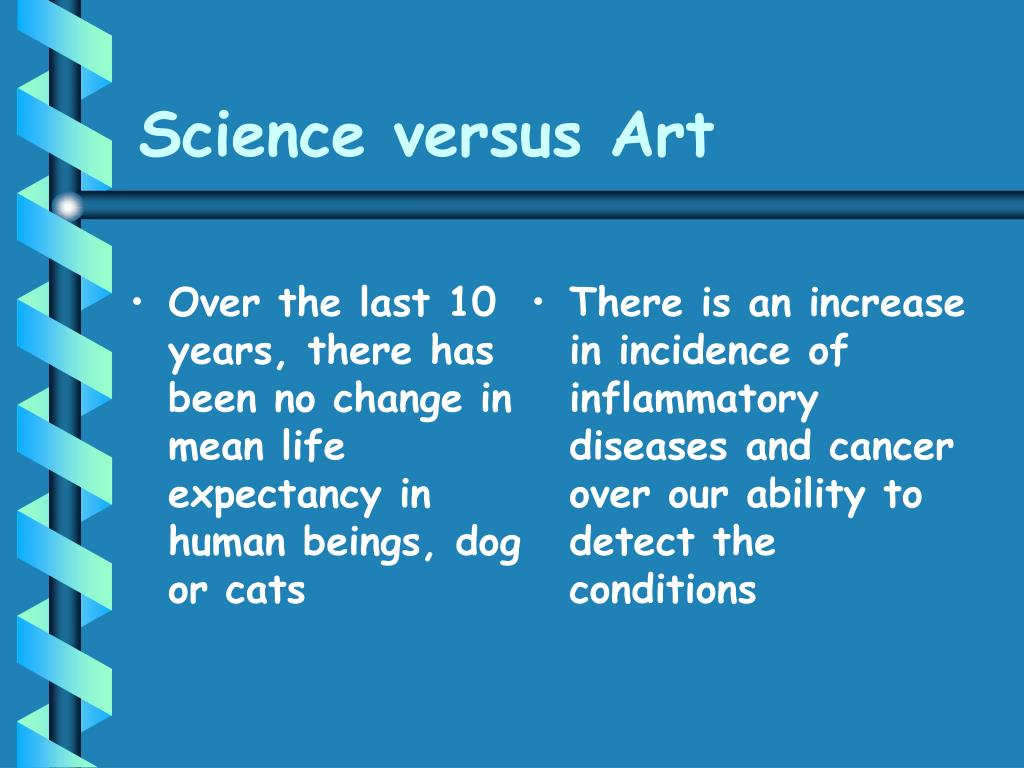 Science versus Art