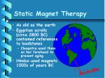 static magnet therapy