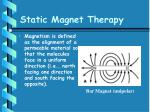 static magnet therapy41