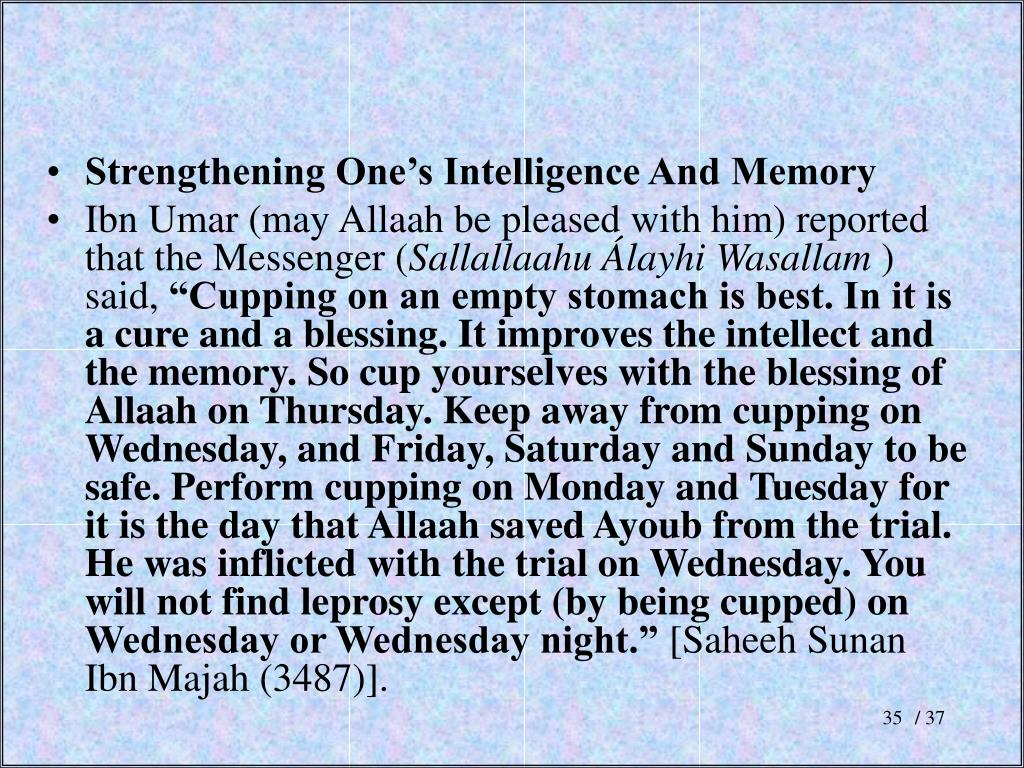 Strengthening One's Intelligence And Memory