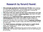 research by forum3 found
