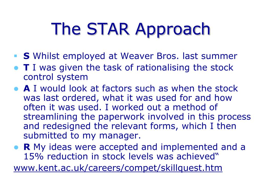 The STAR Approach