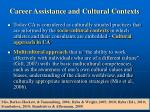 career assistance and cultural contexts