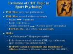 evolution of cdt topic in sport psychology