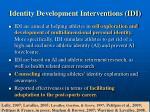 identity development interventions idi