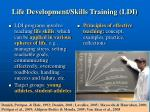 life development skills training ldi