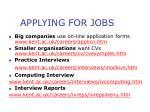 applying for jobs
