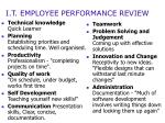 i t employee performance review