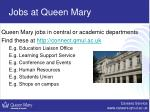 jobs at queen mary