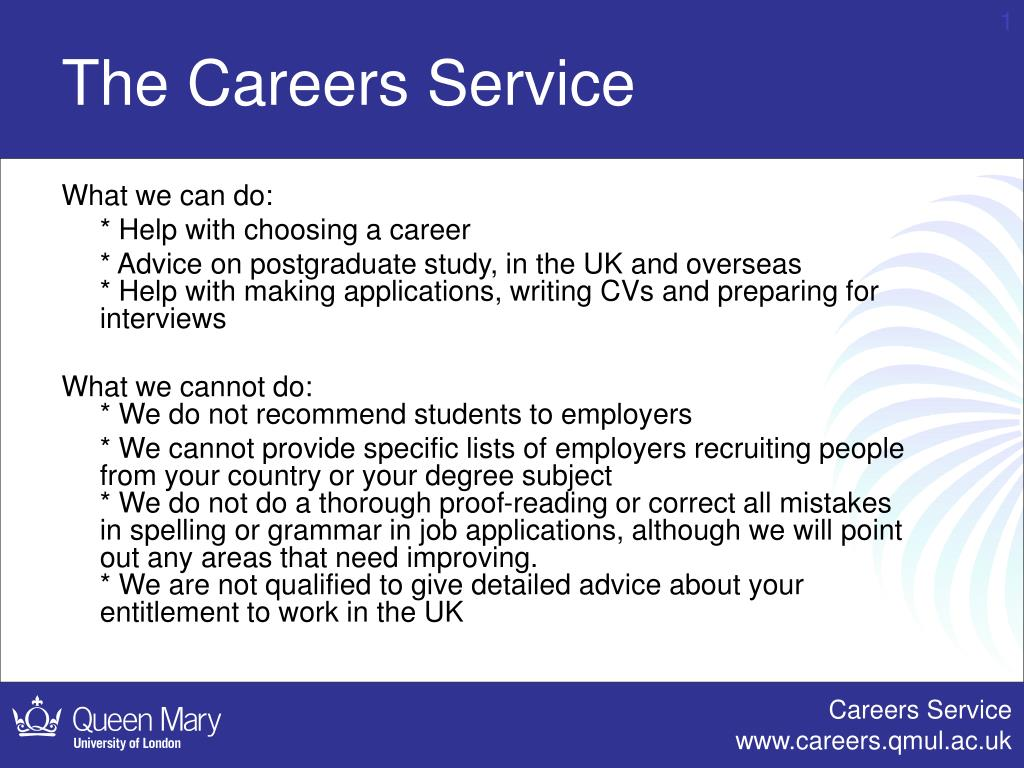 the careers service l.