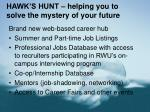 hawk s hunt helping you to solve the mystery of your future