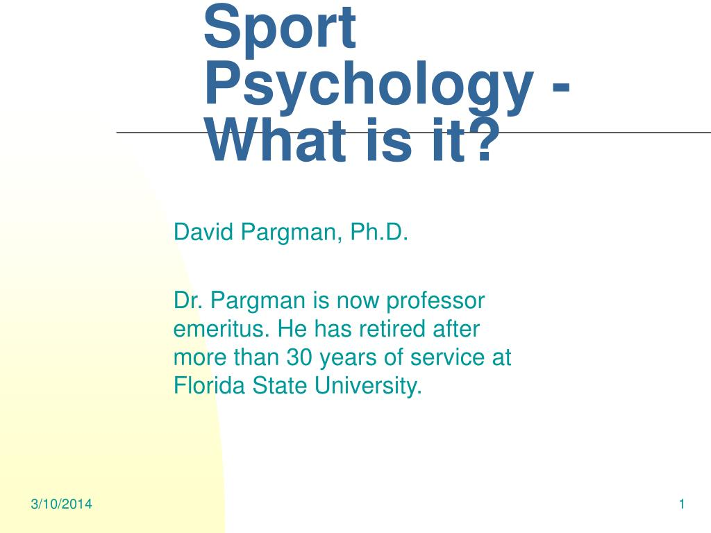 Sport Psychology - What is it?