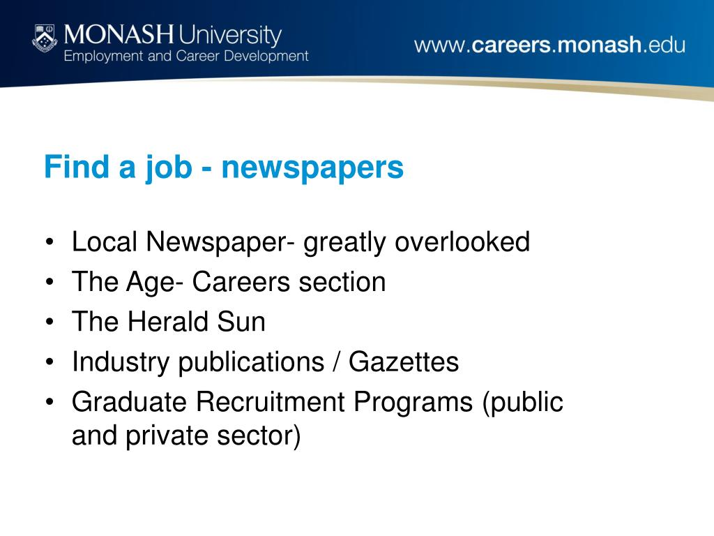 Find a job - newspapers