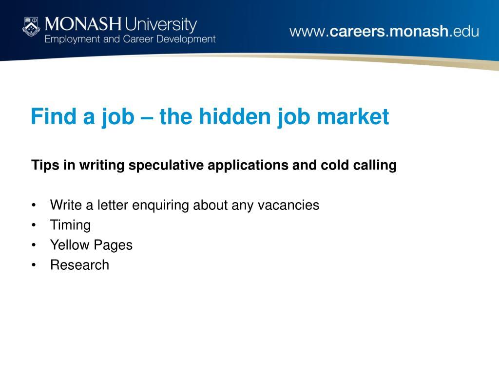 Find a job – the hidden job market