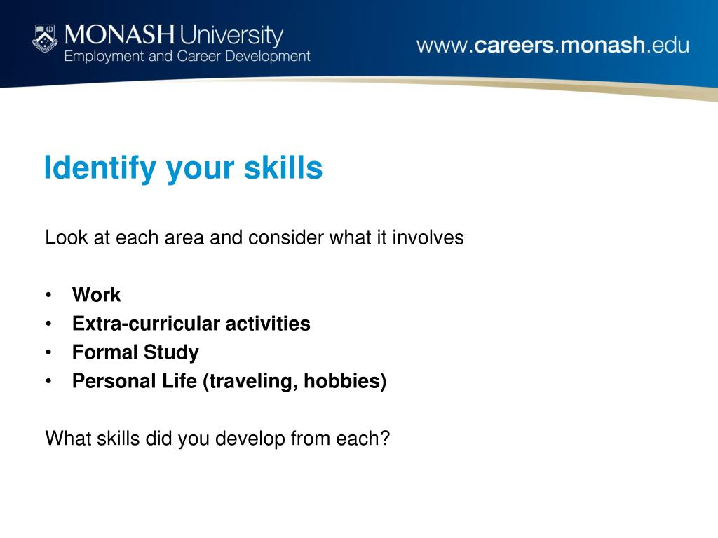 Identify your skills
