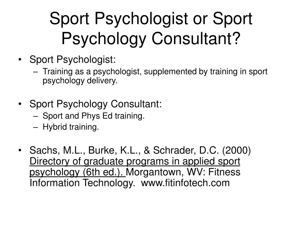 Sport Psychologist or Sport Psychology Consultant?