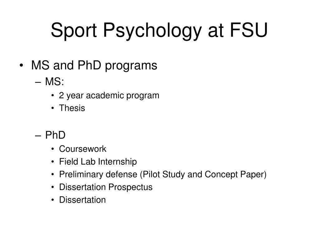 Sport Psychology at FSU