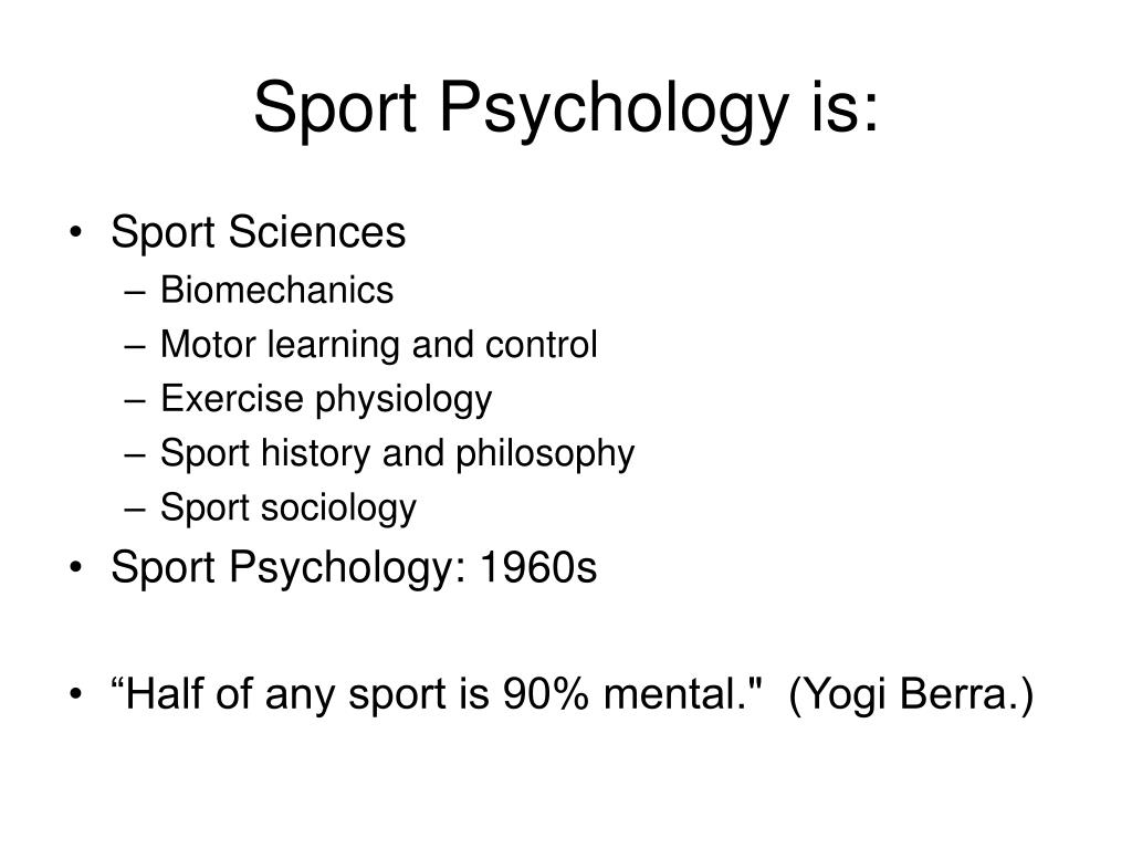 Sport Psychology is: