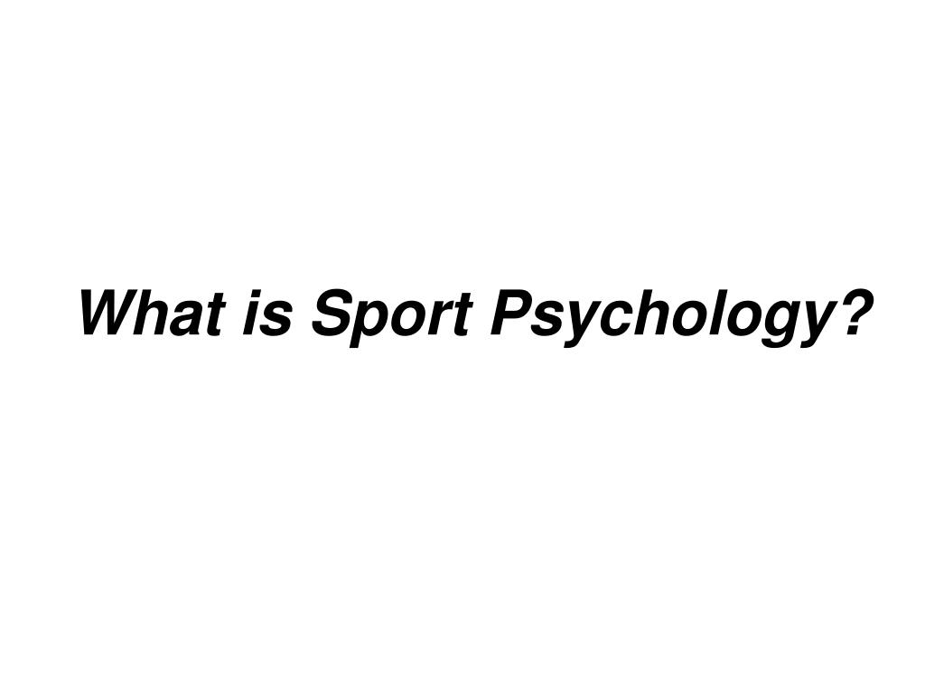 what is sport psychology l.