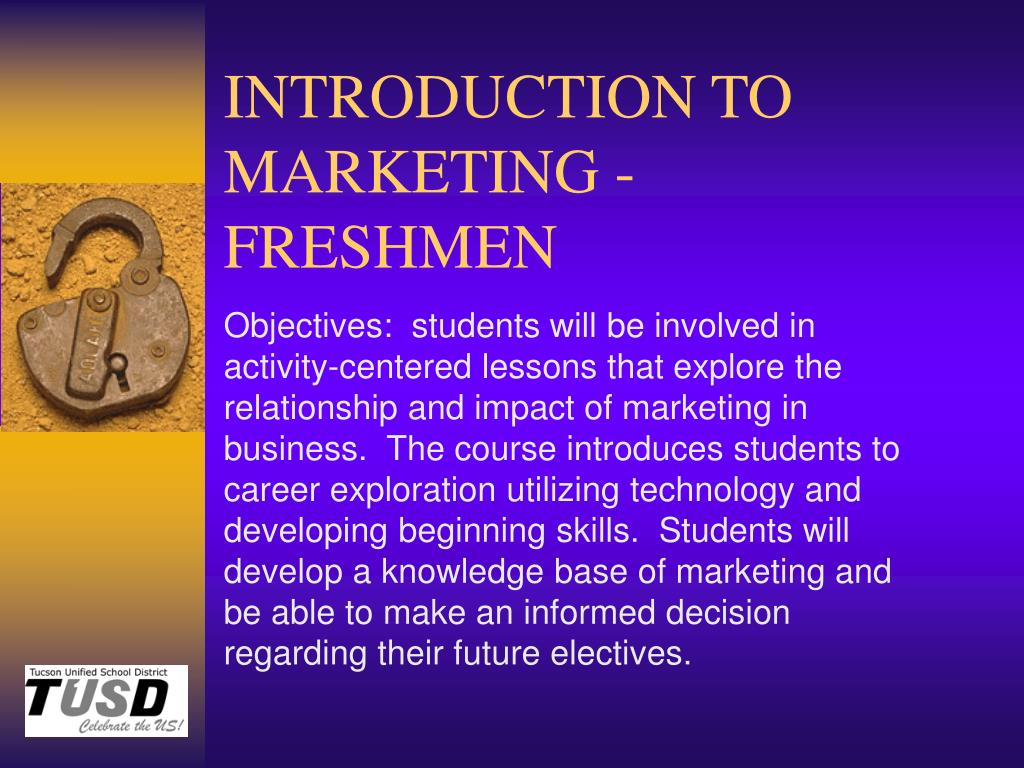 introduction to marketing freshmen l.