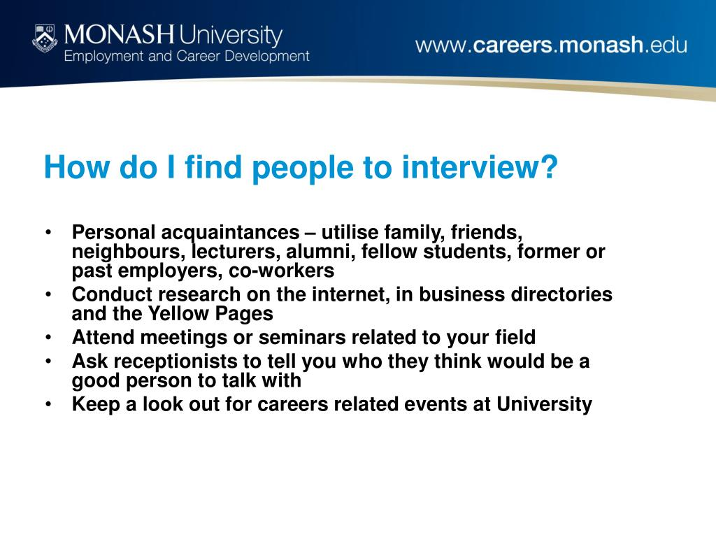How do I find people to interview?